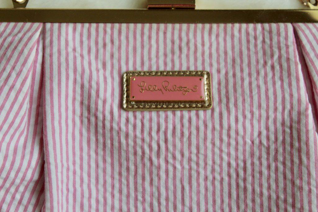 Lilly Pulitzer Pink Seersucker Clutch