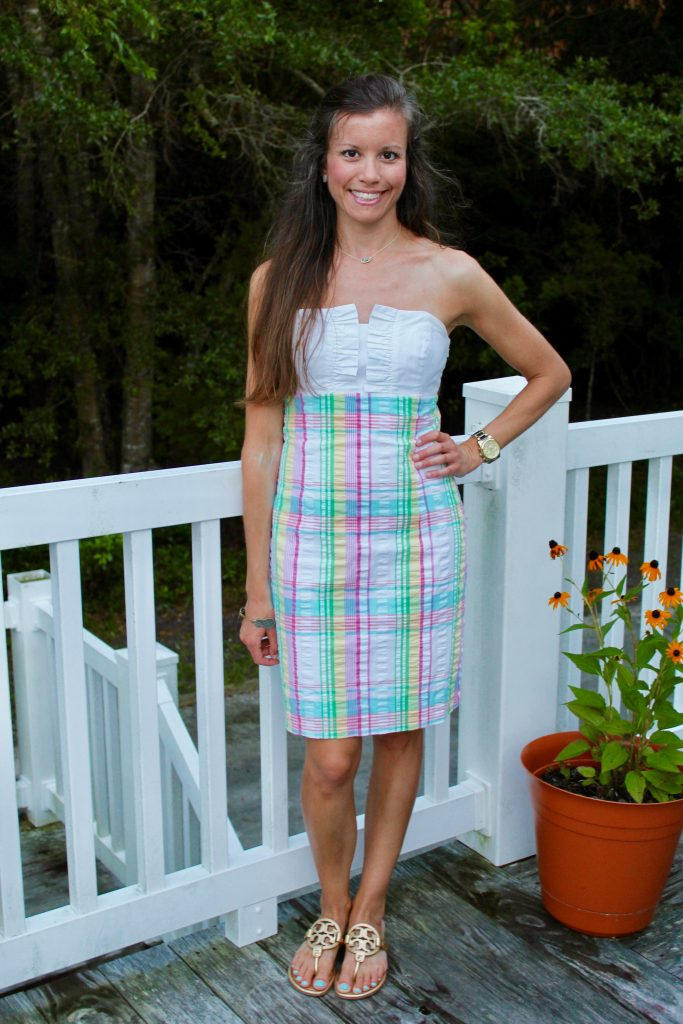Lilly Pulitzer Plaid Seersucker Franco Dress