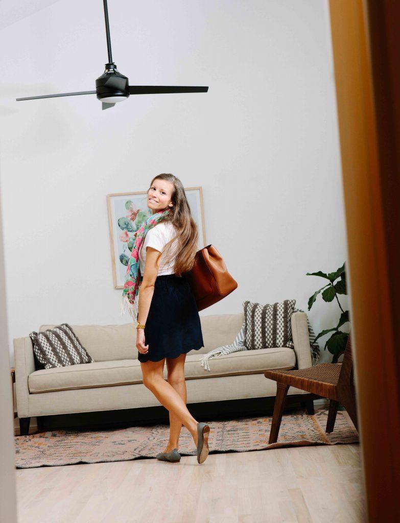 Lauren James Scalloped Corduroy Skirt