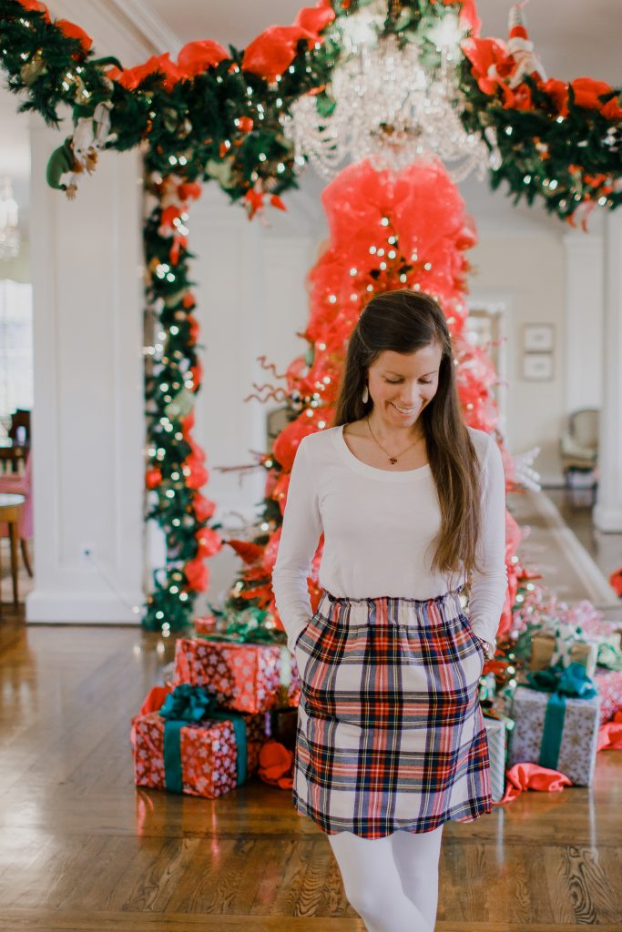 Plaid Flannel Skirt