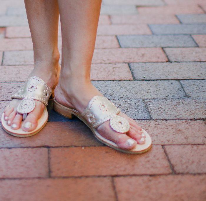 Platinum Jack Rogers Sandals