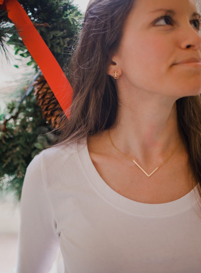Anthropologie Block Initial Necklace