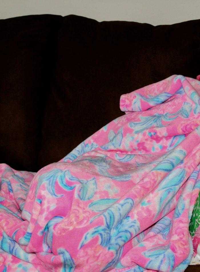 Lilly Pulitzer fleece blanket