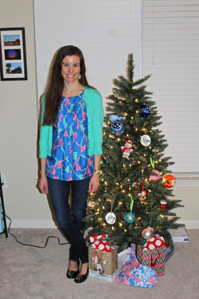 Holiday Outfit Inspiration Festive Top
