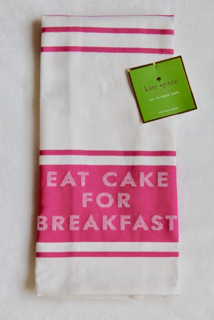 Kate Spade Eat Cake for Breakfast Kitchen Towel