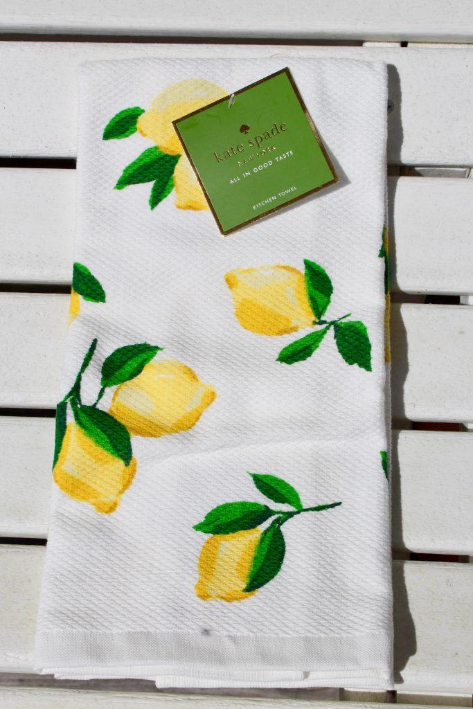 Kate Spade Lemon Print Kitchen Towel