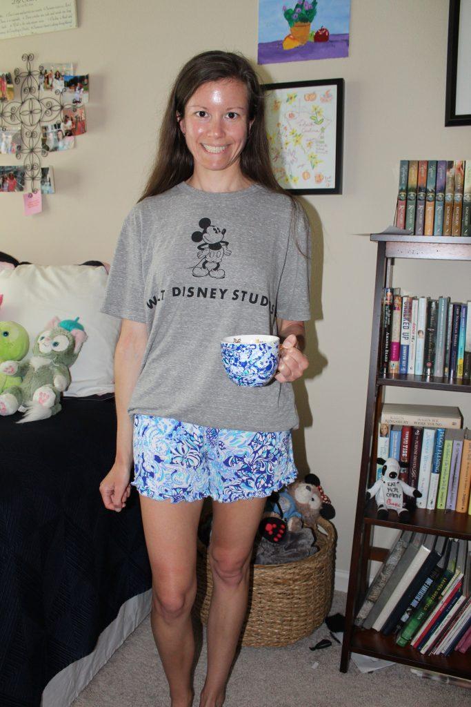 Disney T-shirt and pajama shorts