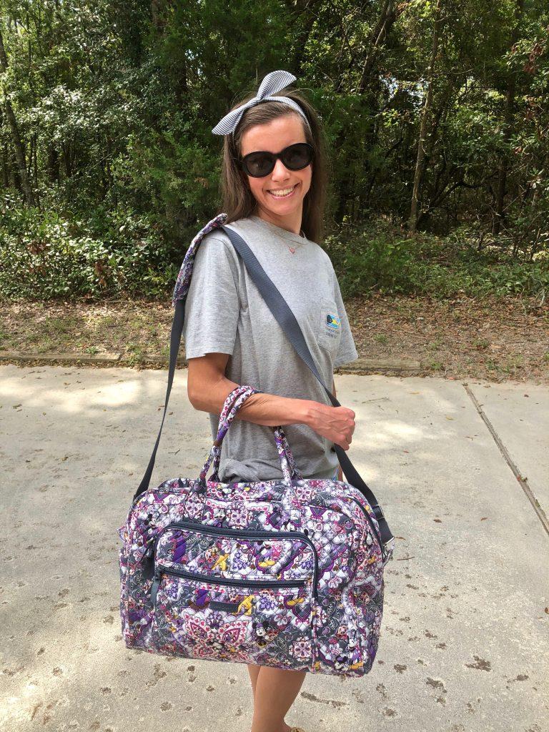 Vera Bradley Weekender Bag Disney Print
