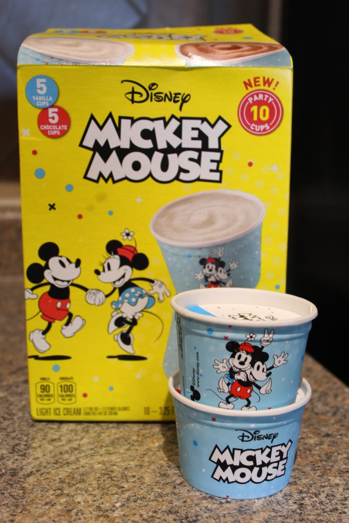 Mickey Mouse Ice Cream Cups