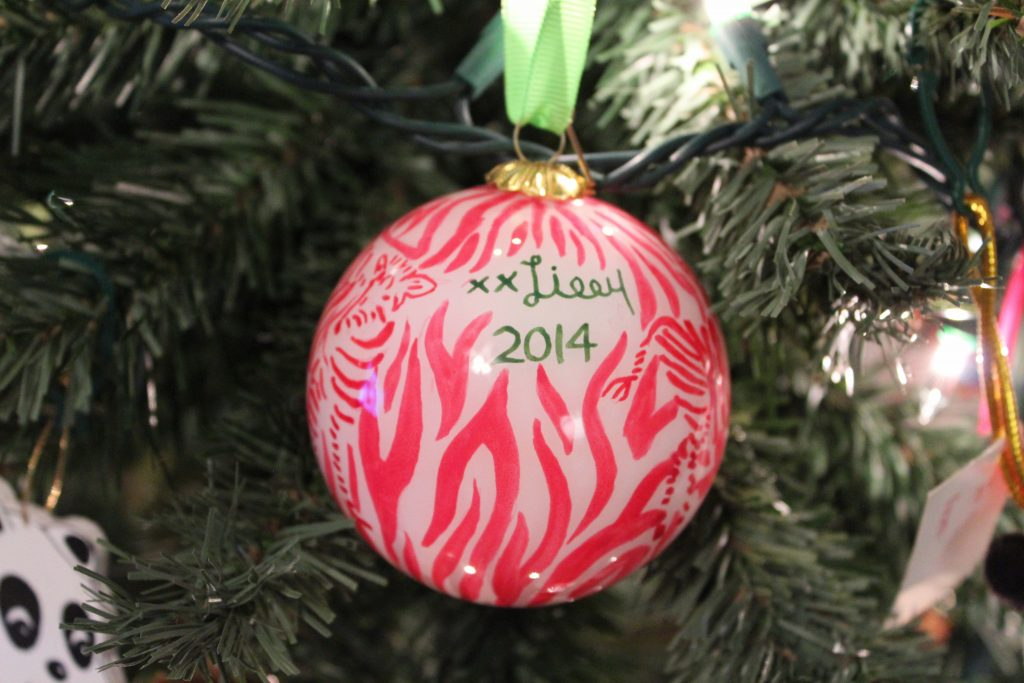 Lilly Pulitzer Christmas Ornament