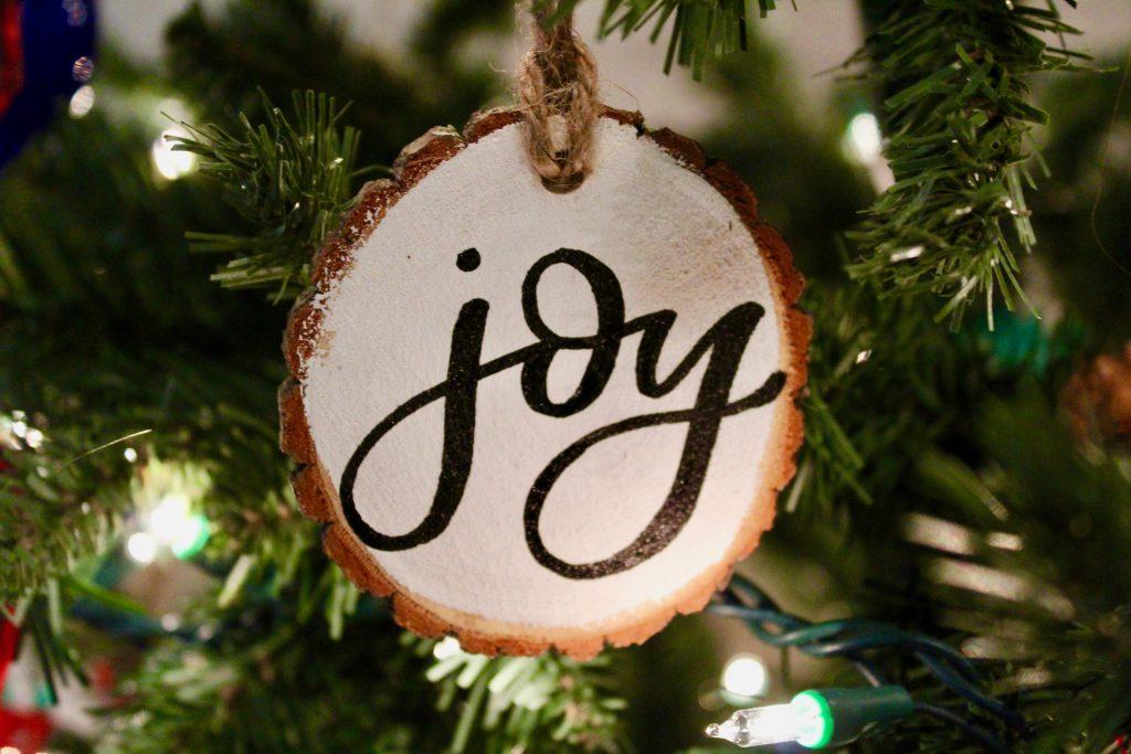 Hand-Lettered Christmas Ornament