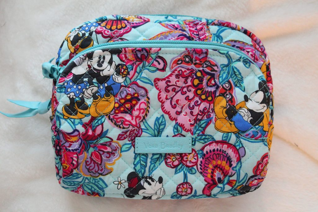 Vera Bradley Medium Cosmetic Case Mickey's Colorful Garden