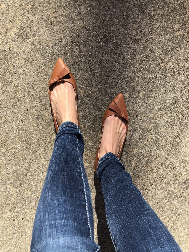 wearing Sarah Flint Natalie Flats out and about