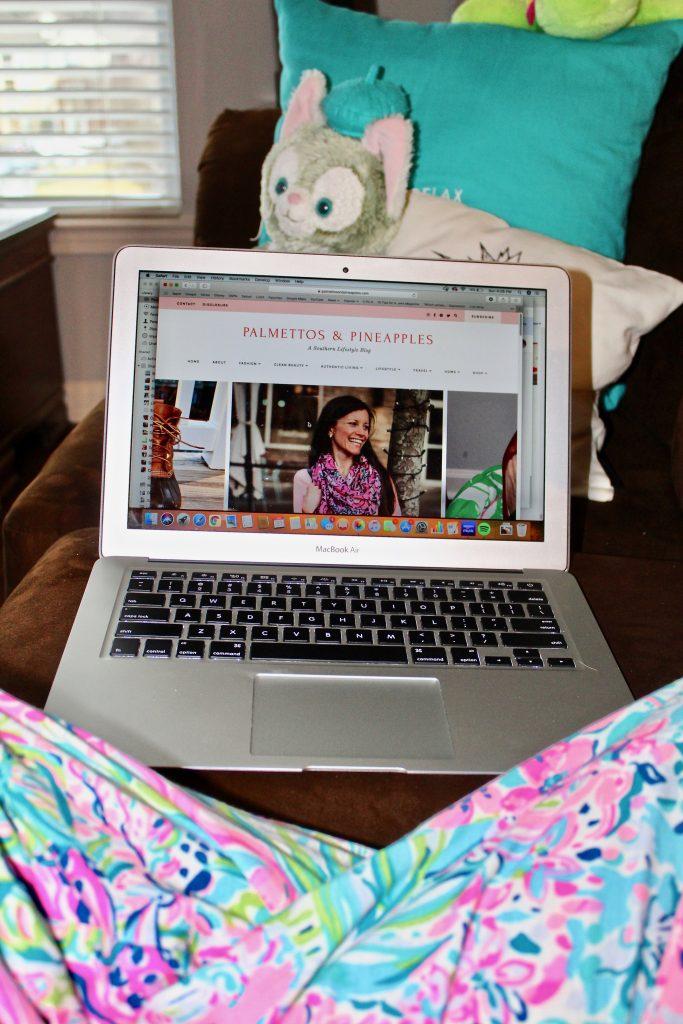 Southern Lifestyle Blog layout