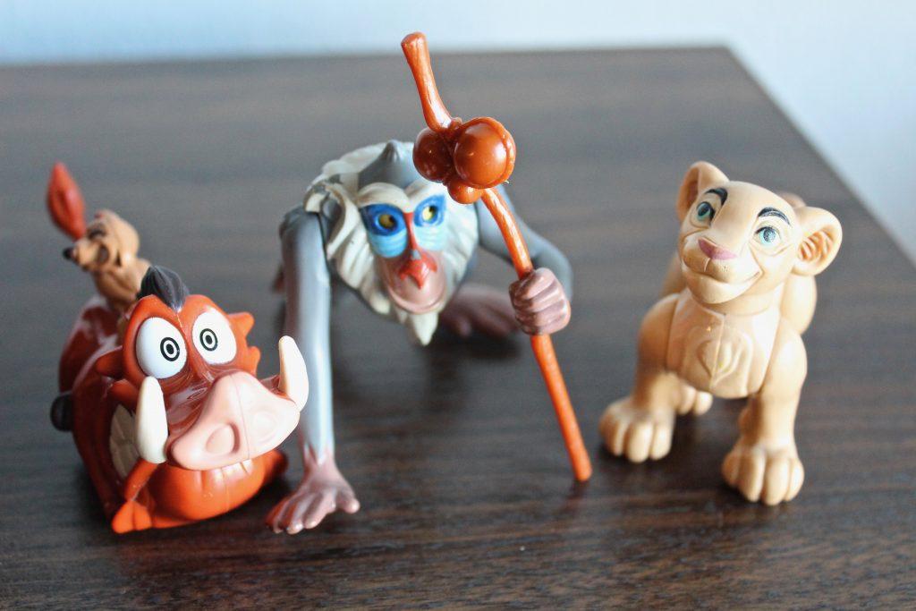 The Lion King Toys Burger King Kids' Meal 1994