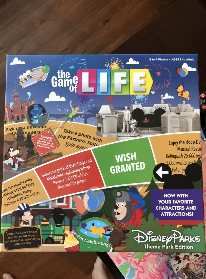 The Game of Life Disney Theme Park Edition