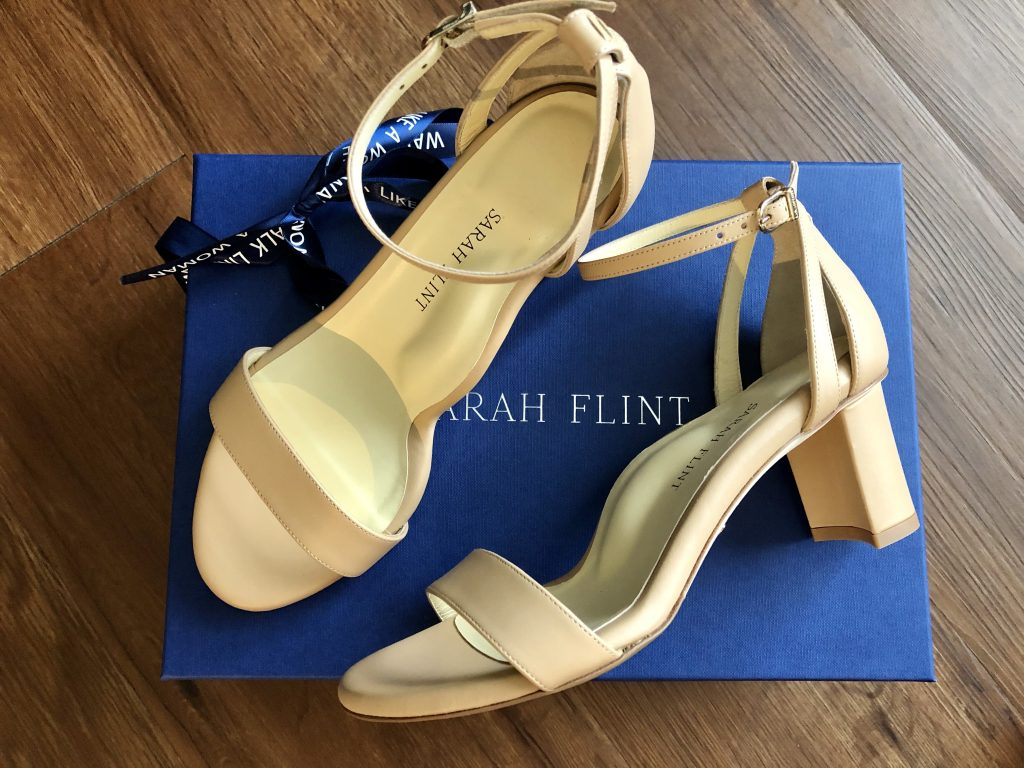 Sarah Flint Perfect Block Sandal 60 in Sand Calf