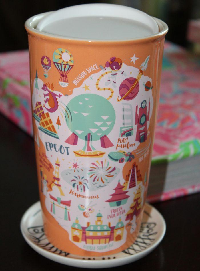 Epcot Ceramic Starbucks Travel Tumbler