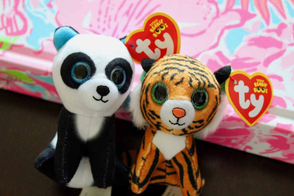 Ty Beanie Boos Happy Meal Toys tiger and panda
